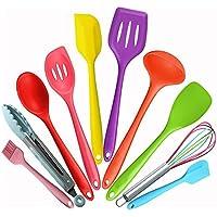 シリコーン製調理器具 10個セット 環境保護 キッチン用品 ベーキング用品 (カラフル)
