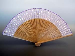 京扇子 女性用 「すずらん 紫」 日本製