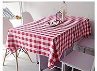 ラウンドテーブルクロス 染色された格子のテーブルクロスの紅茶のテーブルクロスのテーブルクロスのホテルのホテルラウンドテーブルの広場ピクニッククロス テーブルクロス ( 色 : A , サイズ さいず : 160*240cm )