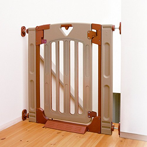 日本育児 ベビーゲート スマートゲイトII プラス 6ヶ月~24ヶ月対象 階段上で使える片開き式のベビーゲート(...