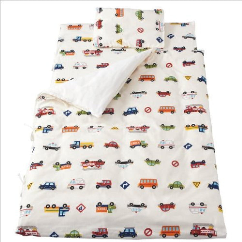 ダブルガーゼ ベビー用お昼寝布団7点セット くるまパーク くるまパーク/ホワイト