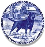 デンマーク製 ドッグ・プレート (犬の絵皿) 直輸入! Rottweiler / ロットワイラー
