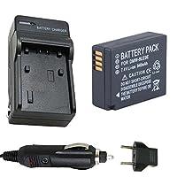 バッテリーと充電器for Panasonic dmw-blg10、dmw-blg10e、dmw-blg10pp Li - Ion充電式バッテリー