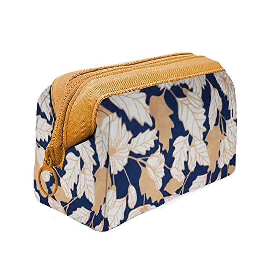 松湾パターン化粧ポーチ - 可愛いミニコスメポーチ トイレタリーバッグ メイクポーチ 収納ケース 小物入れ 防水 大容量 出張 旅行用 フラミンゴ