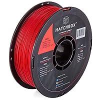 HATCHBOX 1.75mm 透明/クリア 赤 ABS樹脂 3Dプリンター用フィラメント - 1kg 巻き - 寸法 誤差 - +/- 0.05mm