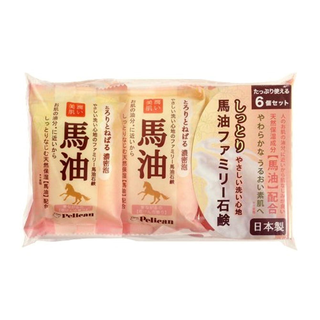 イディオムキャリッジ韓国ペリカン石鹸 ファミリー馬油石けん 80g×6個