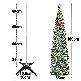 クリスマスツリー 150cm クリスマス オーナメント クリスマスツリー 北欧 超速組立クリスマスツリー イベント用 行事 多彩カラー 組み立て式 収納便利