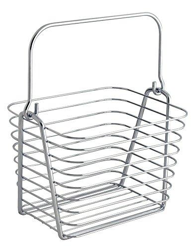 InterDesign バスルーム キッチン用 収納 ワイヤー バスケット ハンドル付き Classico S クローム 93122EJ