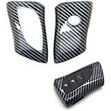 carmonmon Plastic Remote Smart Key Fob Shell Cover Case Bag Holder for Lexus UX200 LS500 LS500H LC500 LC500h ES300h ES350 Carbon Gloss Fiber