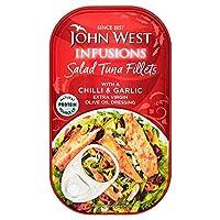 [John West ] ジョン・西サラダマグロの切り身を唐辛子とニンニク115グラム - John West Salad Tuna Fillets Chilli And Garlic 115G [並行輸入品]