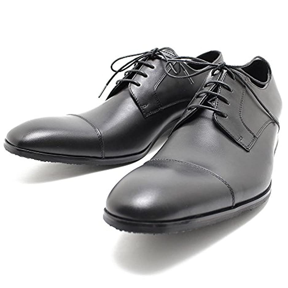 評価効能港whoop de doo/フープディドゥ 304342 ストレートチップシューズ ブラック 本革ビジネスシューズ ビジネス/ドレス/紐靴/革靴/仕事用/メンズ