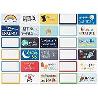 Pack of 60ランチボックスノート–カラフルなインスピレーションとモチベーションカードfor Kids、2x 3.5CM