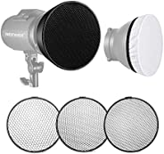 Neewer Standard Reflector 7 inches/18 Centimeters Soft Diffuser with 20/40/60 Degree Honeycomb Grid for Bowens