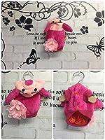 N55 着ぐるみ ぶた 犬 服 ピンク パーカー フラワー (4号)