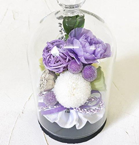 紫苑しおん プリザ-ブドフラワー コルクガラスドーム