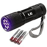 LE LED 9灯 UV 懐中電灯 紫外線ブラックライト ハンドライト ミニ 携帯 ジェルネイル用