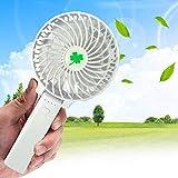 Osize 創意 USBファンミニ子供の学生ポータブルハンドファンデスクトップファンUSB充電ファン 強力 静音 (ホワイト)