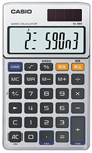 カシオ 電卓 ゲーム電卓 手帳タイプ 10桁 SL-880-N