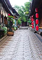 GooEoo 5×7FT写真背景アンティーク水辺中国風古代建築中庭ラタンシーンテーマ肖像画背景Vinl Bckdrop 1.5x2.2mフォトスタジオの小道具