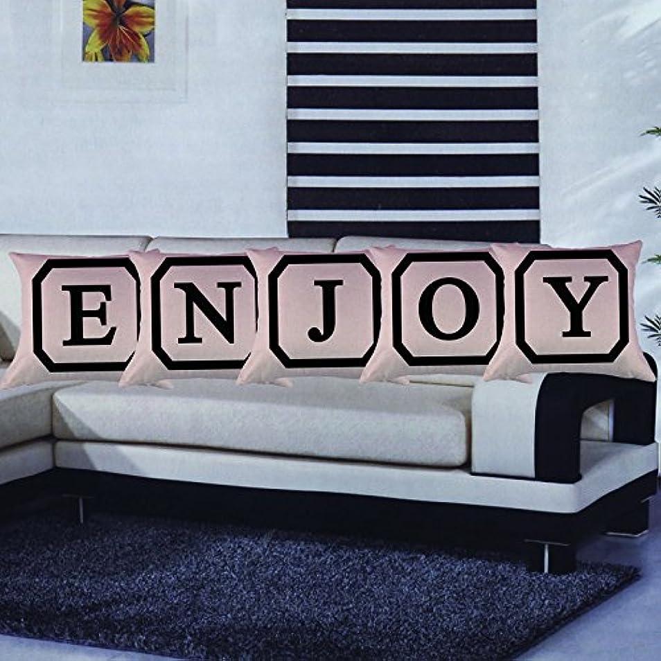 寝室を掃除する好意回転させるコットンリネンスクエア枕カバーダブル枕ソファカバー家具M