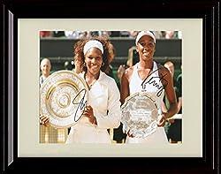 サインフレーム入りウィリアムズ姉妹レプリカ印刷 – GreatestテニスDuo 。