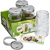 Ball Jar Wide Mouth 32oz (4 Pack)