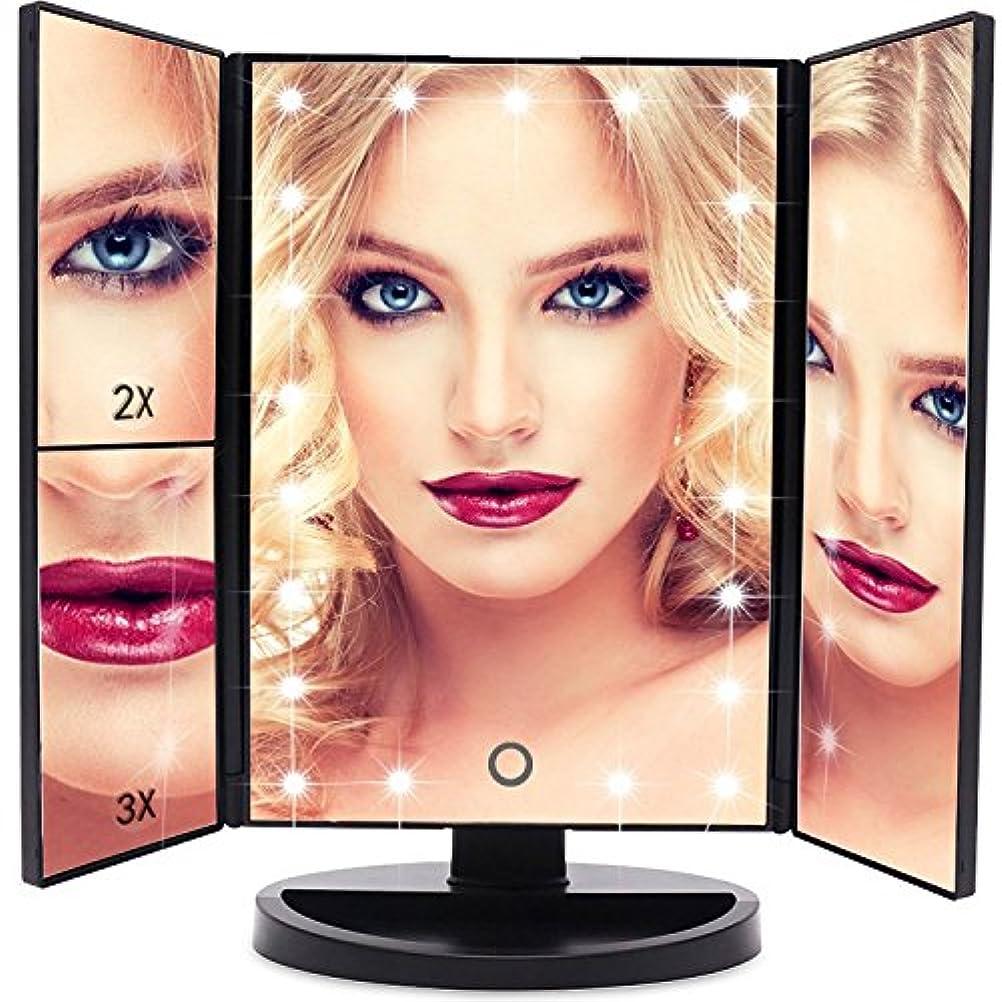 EmaxDesign 洗面化粧台 ミラー21 180°自由に回転テーブルを充電倍率つ折りタッチスクリーン付き照明付き化粧鏡を率いカウンター化粧鏡