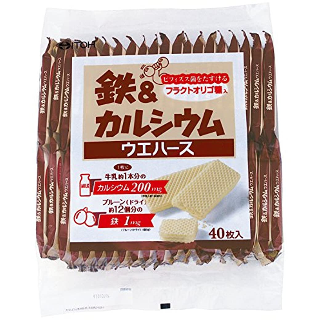 クッション放棄するラウズ井藤漢方製薬 鉄&カルシウムウエハース 40枚