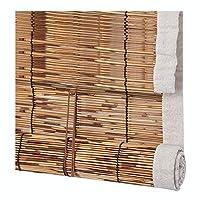 CHAXIA ウッドブラインド 竹 ローラーブラインド レトロ 葦 バルコニー カーテン シェーディング 防虫剤 耐湿性 3色、 カスタマイズ可能 (色 : C, サイズ さいず : 140×225cm)
