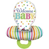 Amscan 3095201 22 x 59-inch Baby Dummy Multi Foil Balloons