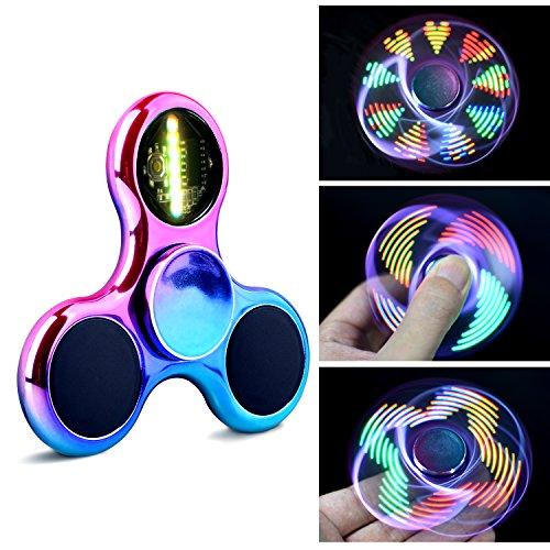 Quimat ハンドスピナー Fidget Spinner 指スピナー カラフル LEDランプ 1.5~2.5分平均スピン おもちゃ TOY ボールベアリング 超耐久性 高速度 ギフトボックス HA05