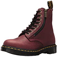 Dr. Martens Womens Pascal W/Zip in Grizzly (Bovine) Leather Red Size: