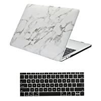 "Macbook Air 13インチケース、Yerwal Macbook Air 13 "" PUレザーシェルケースカバーとキーボードカバー、Macbook Air 13インチPU MarbelケースのMacBook Air 13 "" a1369 /a1466 MacBook Pro 13'' Retina (A1502/A1425) YEUS28204"