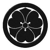 蒔絵シール 家紋 「丸に剣片喰 黒」