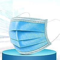 防汚マスク ユニセックスフェイス再利用可能アンチダストが3層フィルタ人間工学に基づいたデザイントラベル口マスクでサイクリング洗えるメルトブロー防曇マスクをマスク3層マスク50枚 2020