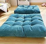 無地座布団 チェアクッション 四角形 55×55×10cm シートクッション 体圧分散 座り心地いい ブルー 画像