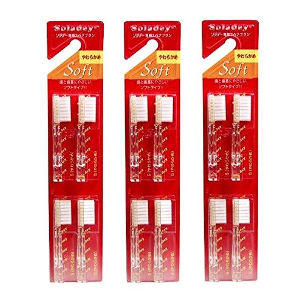 葉巻関税料理ソラデー 専用スペアブラシ 4本入 S(やわらかめ)  ×3個セット