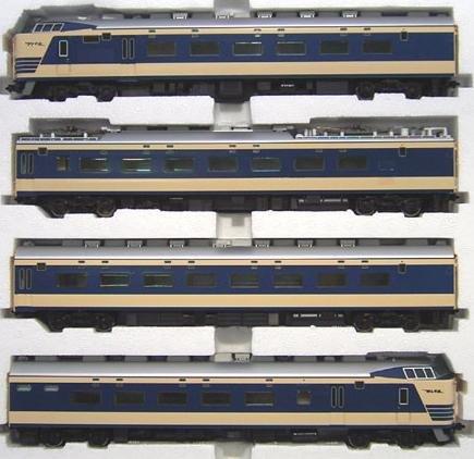 HOゲージ車両 583系特急寝台電車 (クハネ581) 4両基本 HO-018