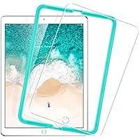 ESR iPad Pro 9.7 フィルム ( 2018 / 2017 新型 ) Air2 / Air / The New iPad 9.7インチ 用 日本製素材旭硝子製 三倍強化 0.3mm 液晶保護フィルム 貼り付けガイド枠付き 硬度9H 気泡自動排除 スクラッチ 指紋防止 無料交換・返金保証