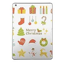 iPad Air スキンシール apple アップル アイパッド A1474 A1475 A1476 タブレット tablet シール ステッカー ケース 保護シール 背面 人気 単品 おしゃれ クリスマス サンタ 星 009428
