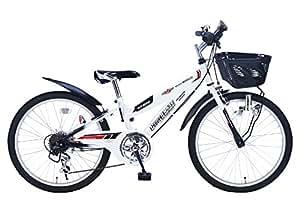 My Pallas(マイパラス) 子ども用自転車 M-822-W 22インチ 6段変速 CIデッキ付 ホワイト