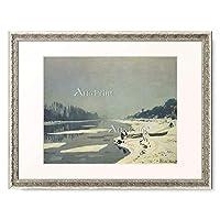 クロード・モネ Claude Monet 「Ice on the Seine at Bougival. (undated)」 額装アート作品