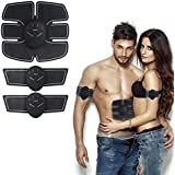Soondar Muscle Toner ABS Stimulator Portable Muscle Trainer with Rhythm & Soft Impulse, EMS Muscle Exerciser for Women and Men Unisex Fitness Fat Burner for Abdomen/Arm/Leg