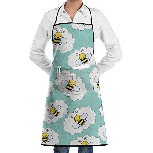 Onliny ミツバチとのシームレスなパターンの落書き エプ...