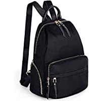 UTO Women's Pu Leather Inch Laptop Backpack Large Black_