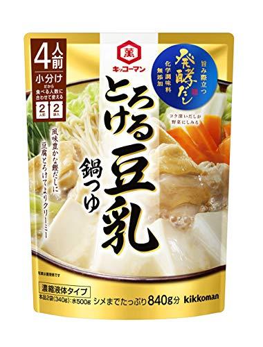 キッコーマン食品 (発酵だし) とろける豆乳鍋つゆ 340g...