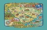 Kay Dee Designs アドベンチャーデスティネーション サウスカロライナマップ ティー キッチン タオル 18インチ x 28インチ 各種