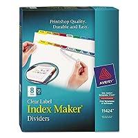 - Index Maker Divider w/Multicolor Tabs 8-Tab Letter 25 Sets/Box [並行輸入品]