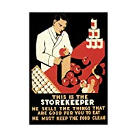 Health Food Store Hygiene USA Vintage Advert Retro Wall Art Print 健康フードアメリカ合衆国ビンテージ広告レトロ壁