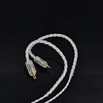 Wooeasy GXX4108 X60 2pinリケーブル 0.78 4芯イヤホンケーブル カスタム2ピン採用機種対応 (銀色の)